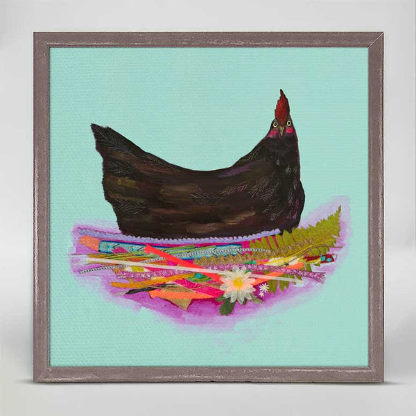 "Black Hen Mini Print 6"" x 6"""