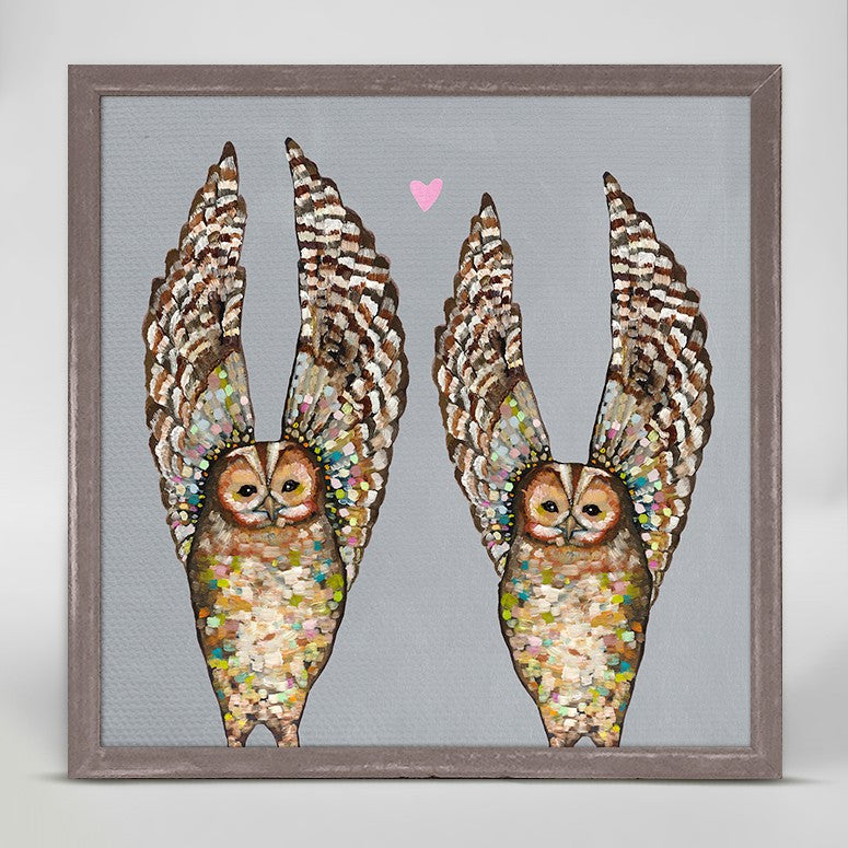 "Owl Love - Gray Mini Print 6"" x 6"""