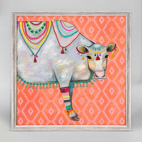 "Queen of the Pasture Bohemian Pattern Mini Print 6"" x 6"""