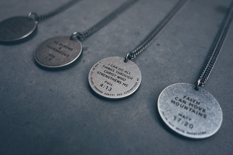 Gunmetal Round Necklace