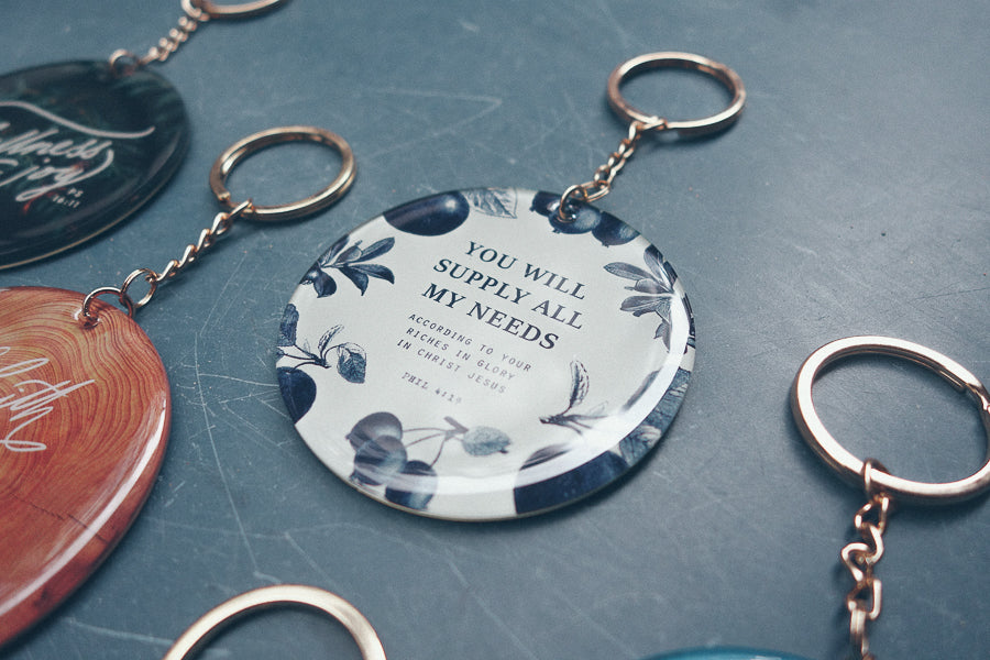 You will supply all my needs key ring available in Christian gifts store near you