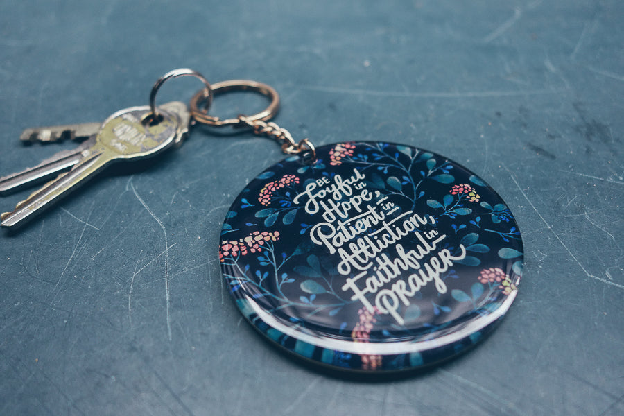 Be joyful car charm cum key chain inspirational gifts for women