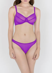 Sheer French Tulle Thong in Basic and Fluorescent Colors - DEBORAH MARQUIT