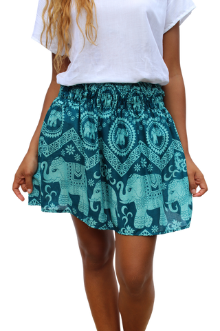 ekajati elephant short mini skirt bohemian island