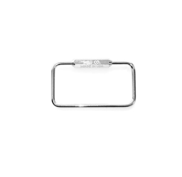 Rectangle Keyring – Chrome