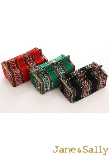 (Jane&Sally)Native Series The Amis Tribe Tissue Cover(Red)