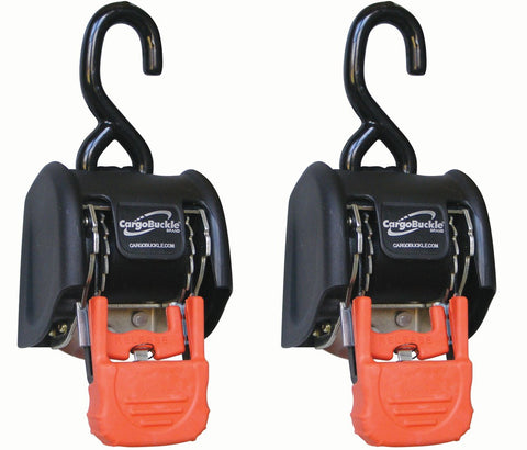 2 Inch, CargoBuckle Self-Retracting Tie-Down (2 Pack) - LoadAll InnerBox Loading Systems Inc._ratchet strap_tie-down_tie-downs_retractable-tie-down_retracting-ratchet-strap_heavy-duty-ratchet-strap_motorcycle-tie-down - 1