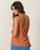 WYLDR Burnt Nude Cross Back Cami