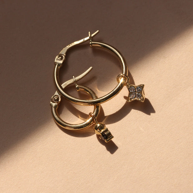 Hoop+ Venus Gold Earrings