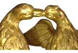 18th-C Italian Carved & Gilt Wood Doves - FREE SHIPPING