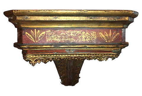 19th Century Italian Parcel-gilt Wall Console - FREE SHIPPING