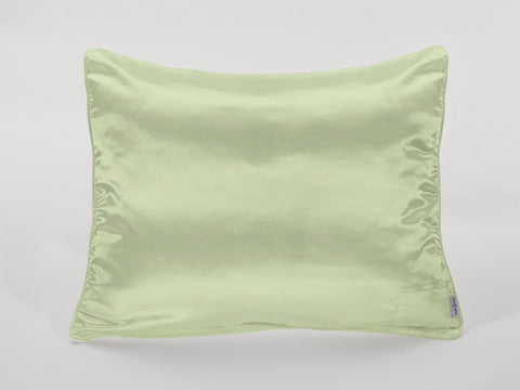 Apple Green Satin Pillowcase for Women and Teens
