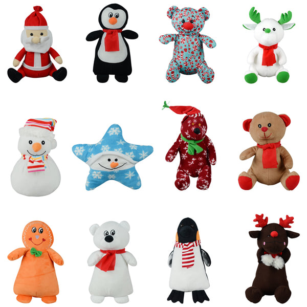 Christmas Non-Licensed Jumbo Plush Mix 50 ct