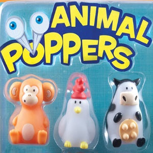 Animal Poppers two inch vending capsule toys