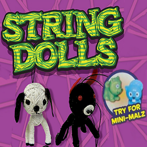 Animal String Dolls mixed with Mini Malz 2 Inch Capsules