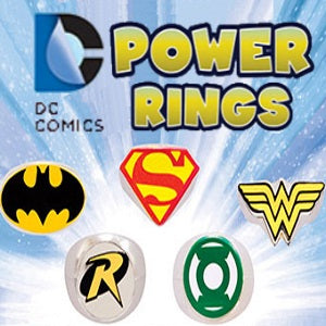 DC Comics Power Rings 2 inch capsules