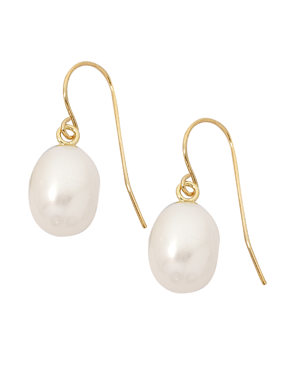 Pearl Earrings - Yellow Gold Pearl Drop Earrings - 210136 - Salera's Melbourne, Victoria and Brisbane, Queensland Australia