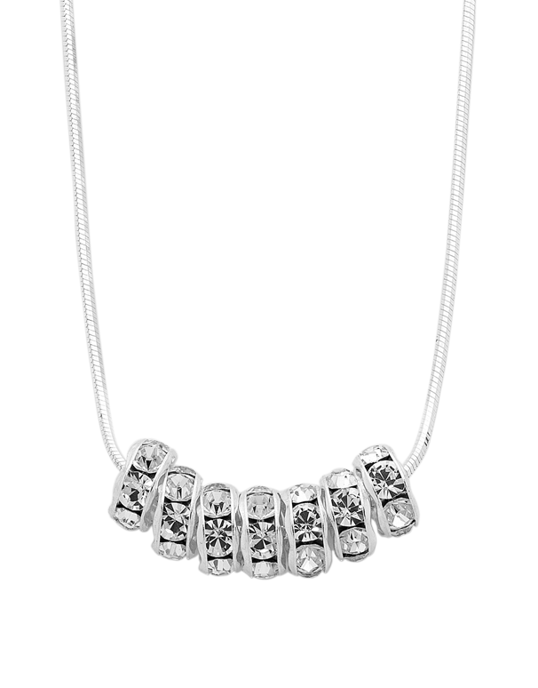 Silver Necklace - Sterling Silver CZ 7 Rings of Luck Necklet - 753744 - Salera's Melbourne, Victoria and Brisbane, Queensland Australia