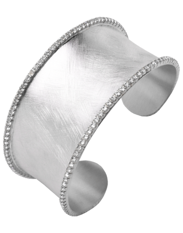 Mode d'Amelie - Sterling Silver Cuff Bangle - 755745