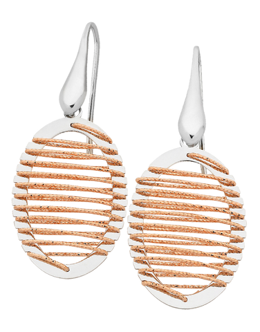 Mode d'Amelie - Sterling Silver Two Tone Earrings - 758627