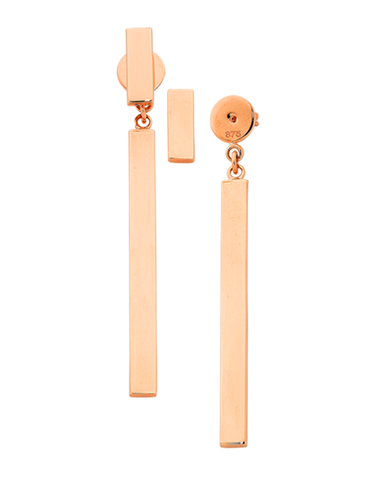 Gold Earrings - Rose Gold Drop Earrings - 769297