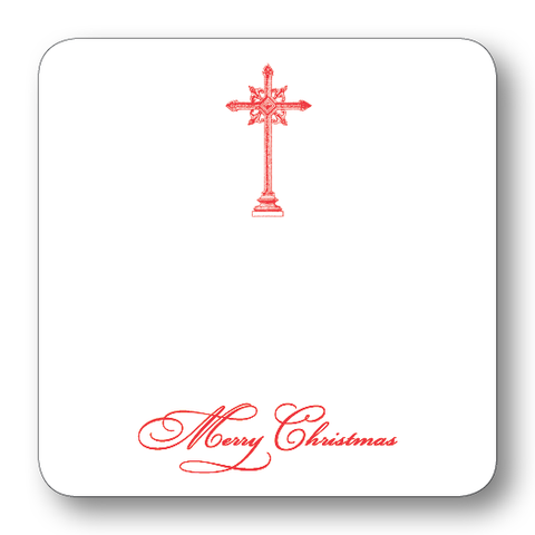 Cross Merry Christmas (Red)