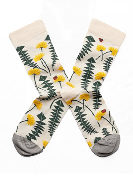 Bonne Maison Natural Dandelions Socks