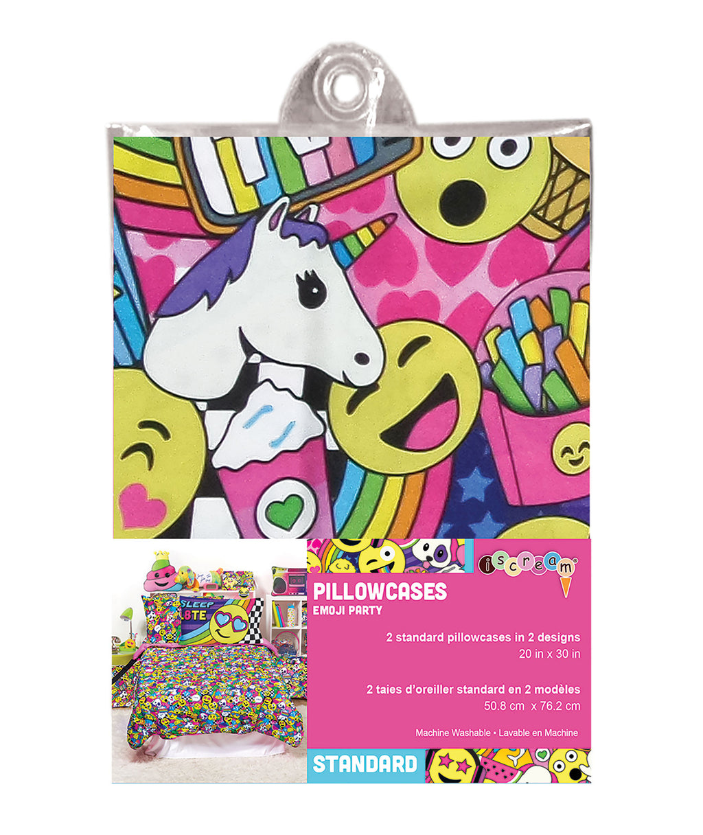 iScream Emoji Party Pillowcase Set - Frankie's on the Park