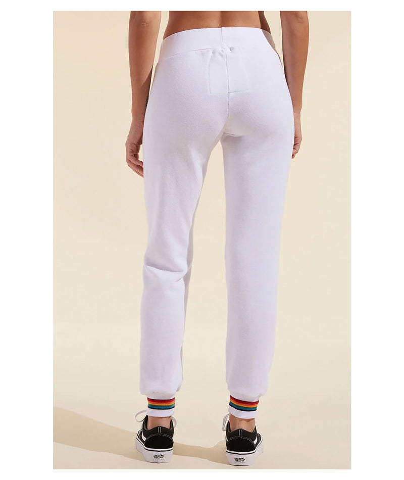 Aviator Nation Prism Sweatpants White