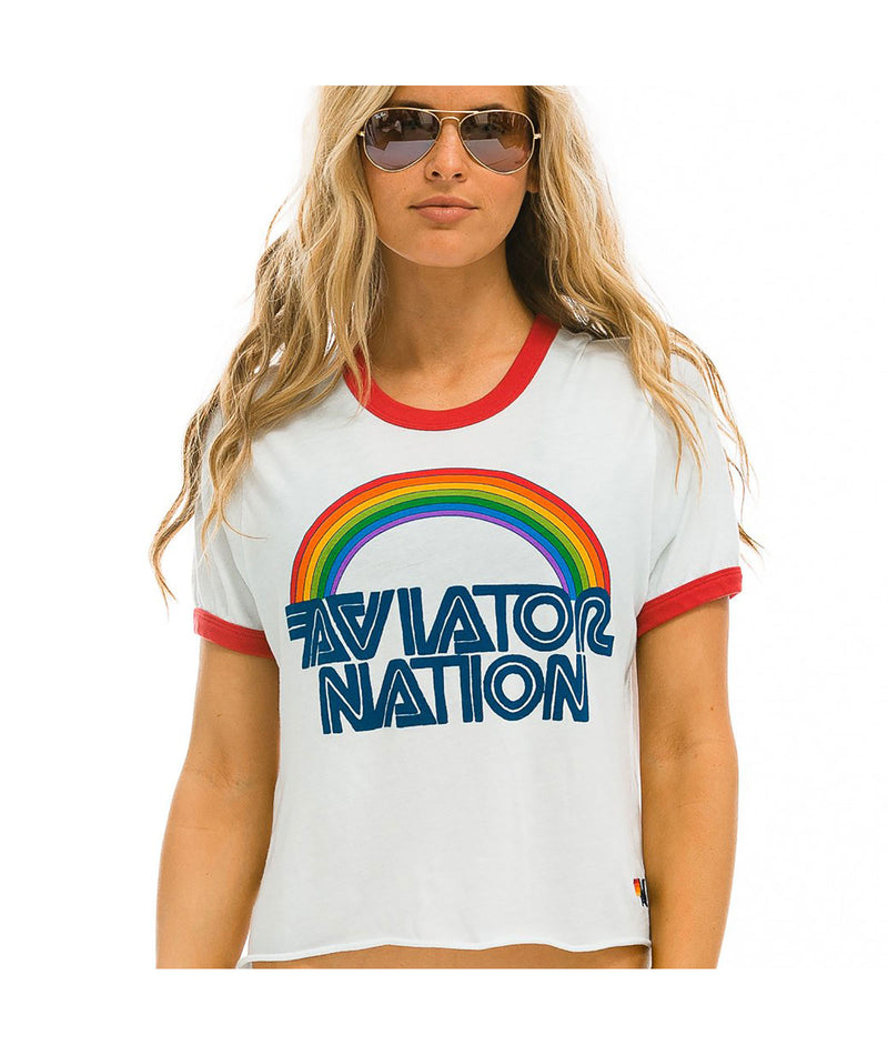 Aviator Nation Glider Sweatpant White & Black