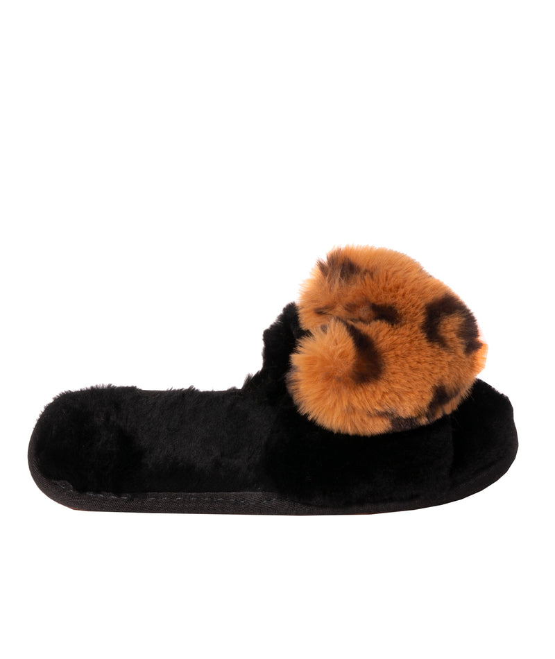 Bean To Tween Womens Red Faux Fur Heart Slides
