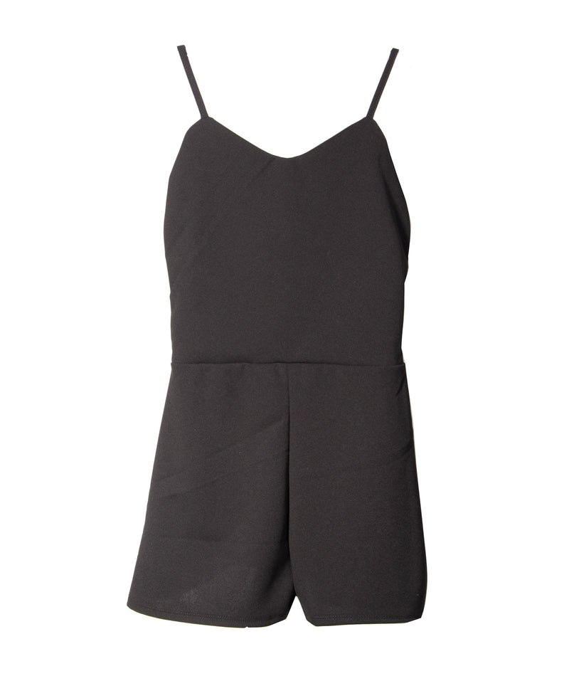 Me.n.u. Girls Color Block V-Neck Romper