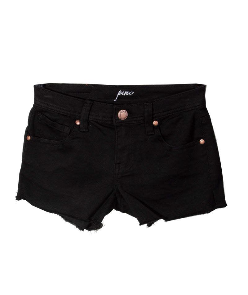 Pinc Premium Girls Black Side Sparkle Shorts