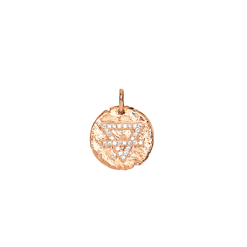 Baby Earth Element Alchemy Coin Rose Gold