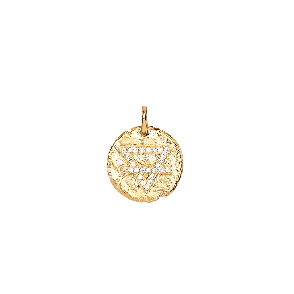 Baby Earth Element Alchemy Coin Yellow Gold
