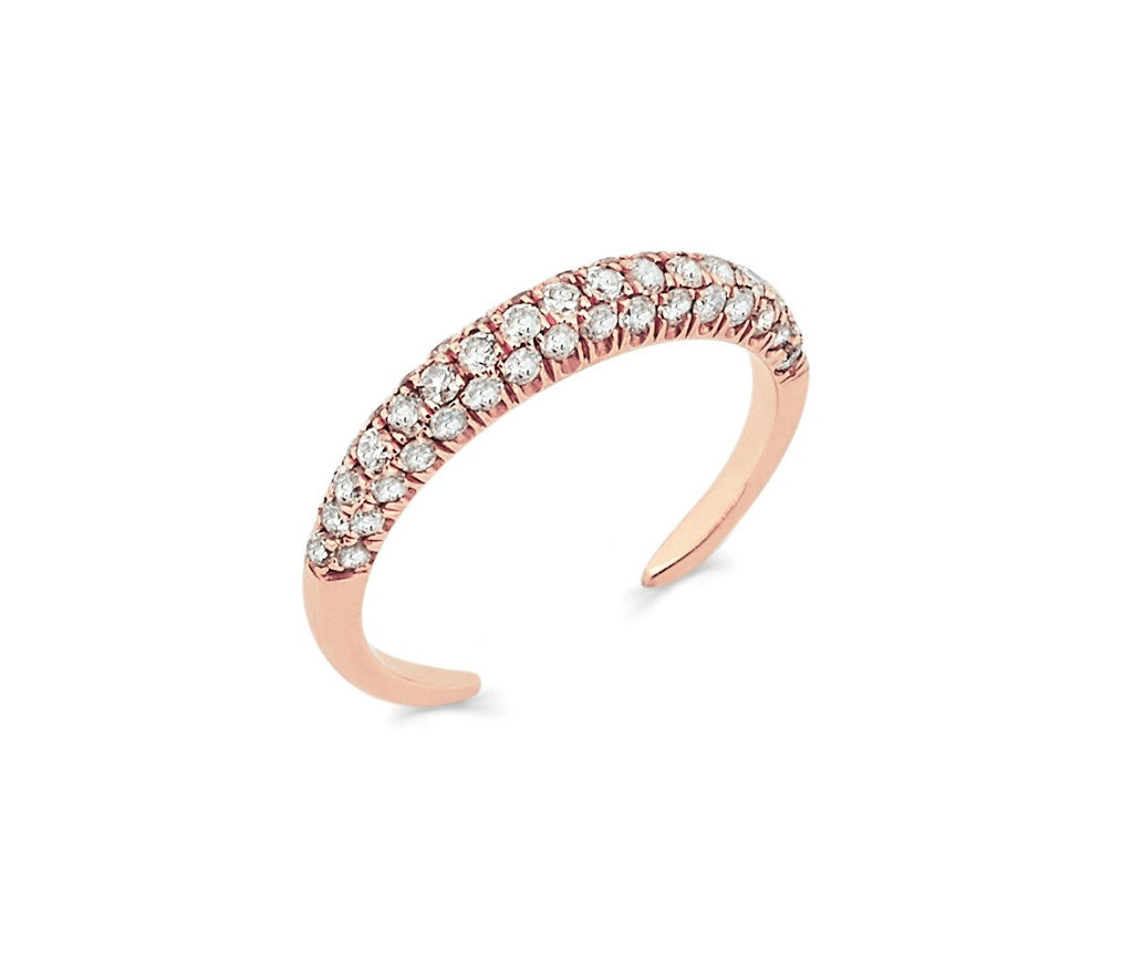 Micro Pavé Diamond Band Rose Gold