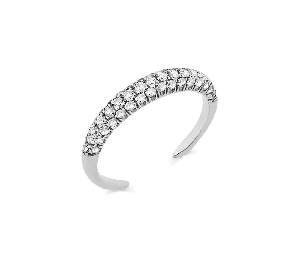 Micro Pavé Diamond Band White Gold