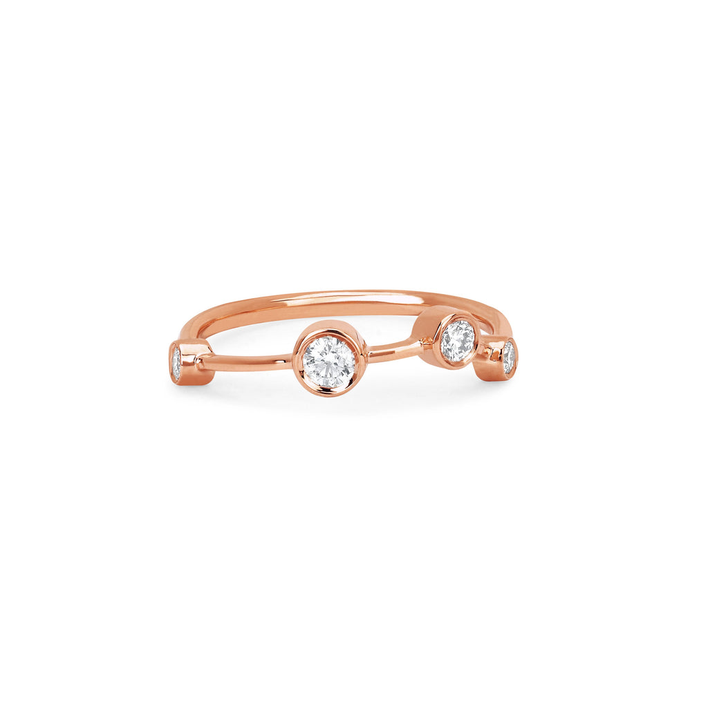 Aries Constellation Ring Rose Gold
