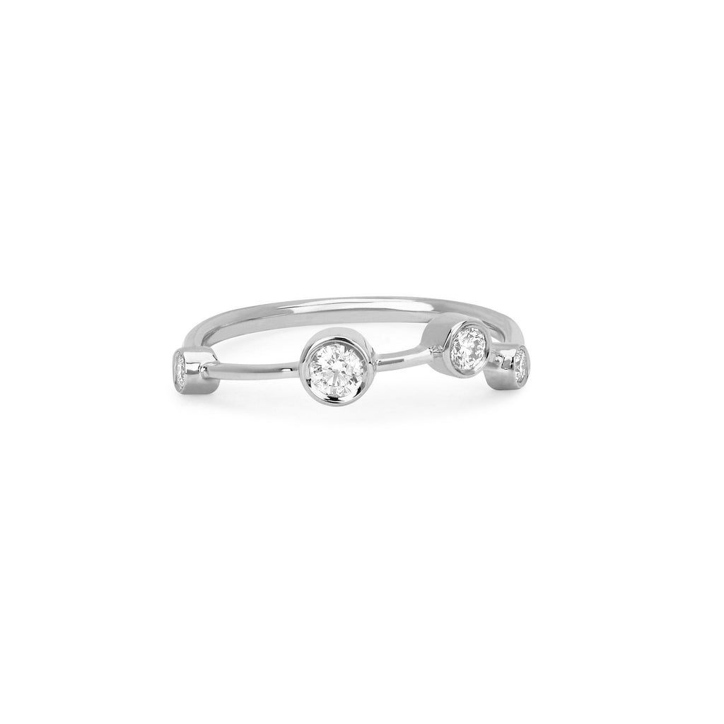 Aries Constellation Ring White Gold