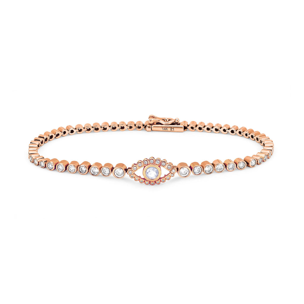 Third Eye Infinity Bracelet Rose Gold