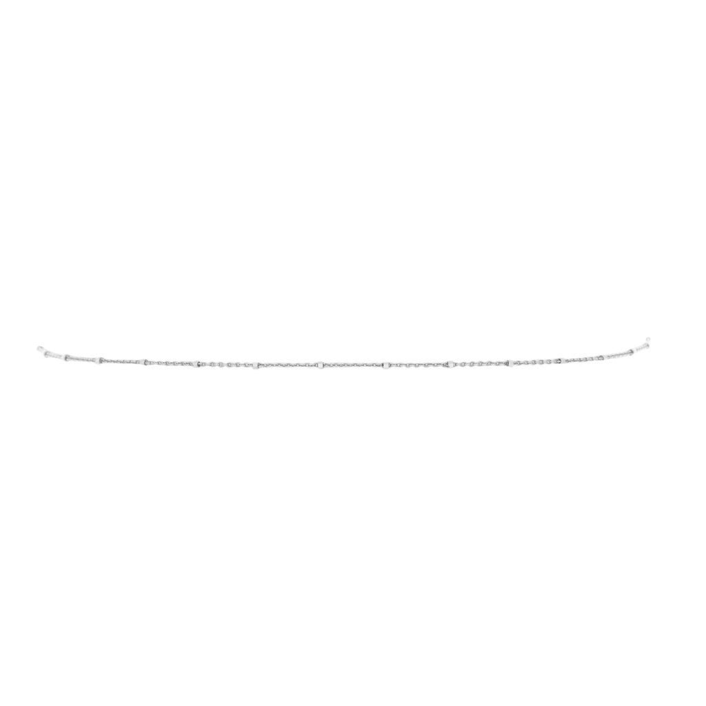 Two Toned Twinkle Choker White Gold