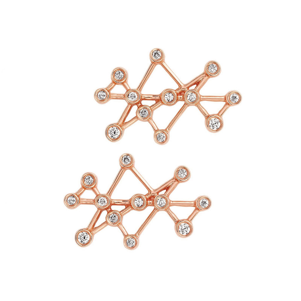 Midas Star Studs Rose Gold