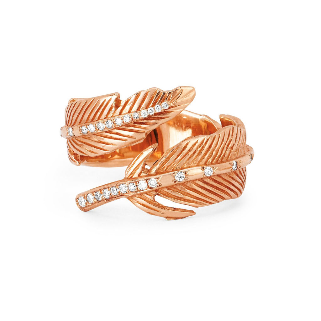 Angel Feather Wrap Ring Rose Gold
