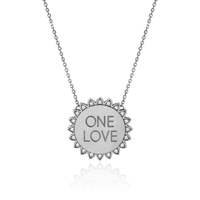 Classic ONE LOVE Sunshine Necklace with Diamonds White Gold