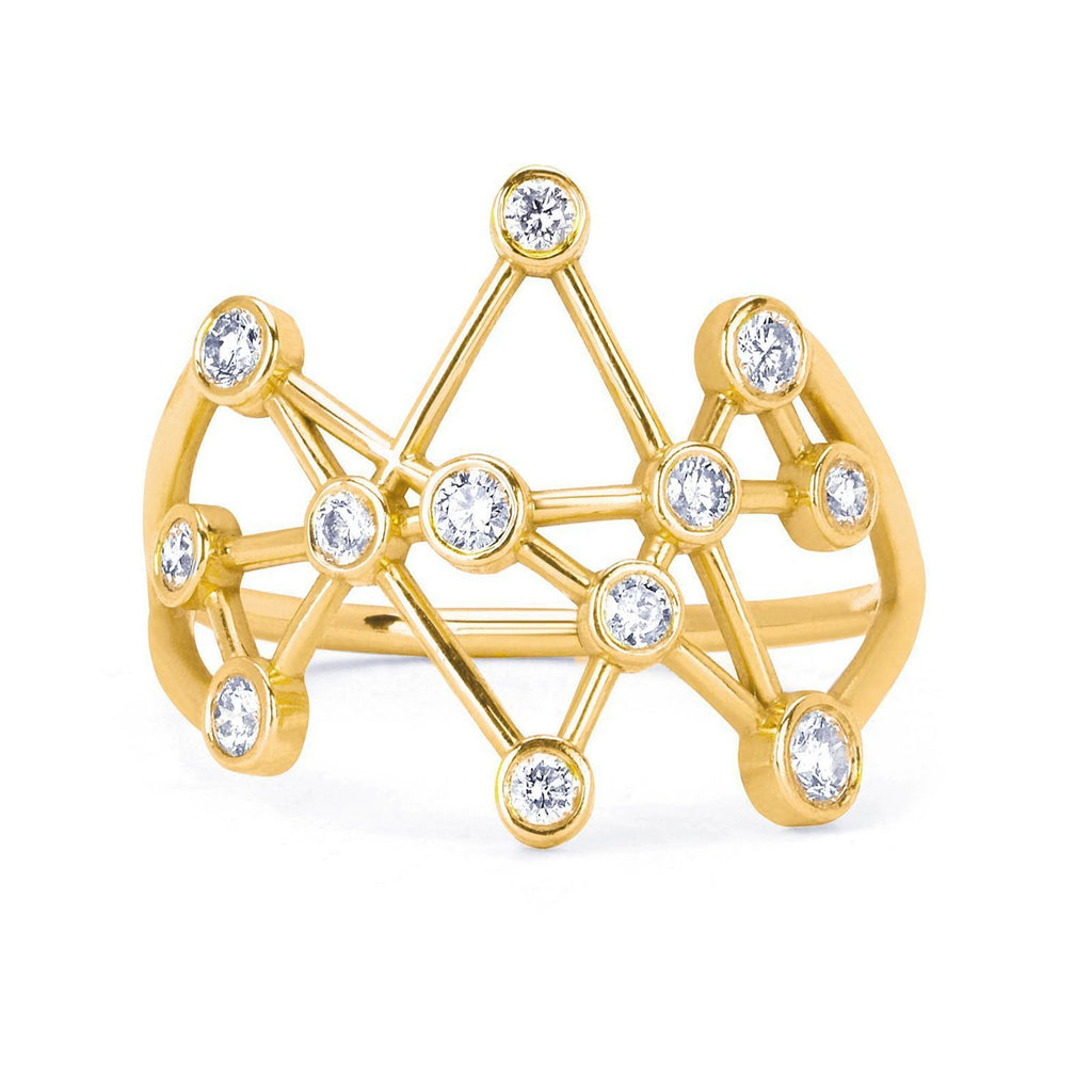 Midas Star Ring Large Yellow Gold