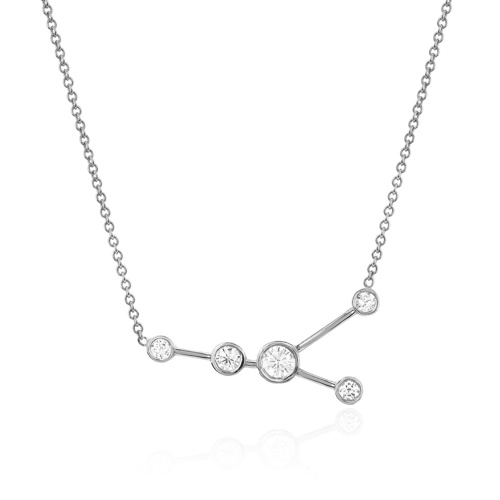 Cancer Constellation Necklace White Gold