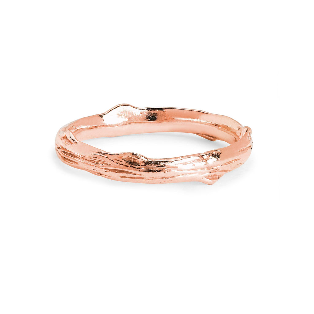 Rose Thorn Solid Band Rose Gold