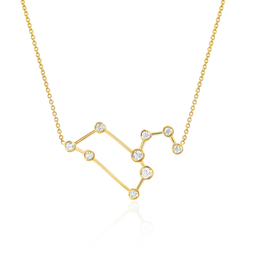 Leo Constellation Necklace Yellow Gold