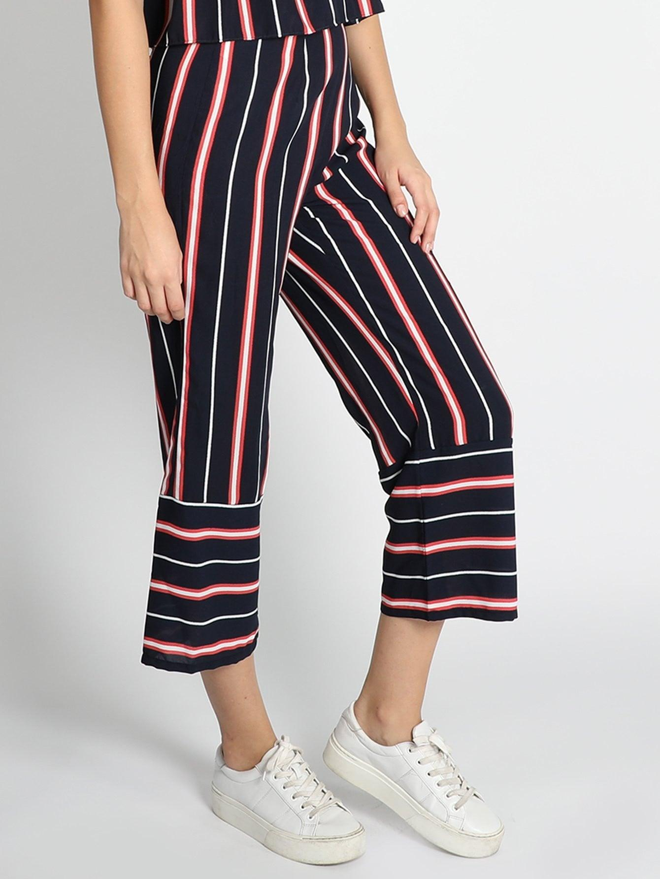 Stripes Culottes - Pants - Zooomberg - Zoomberg