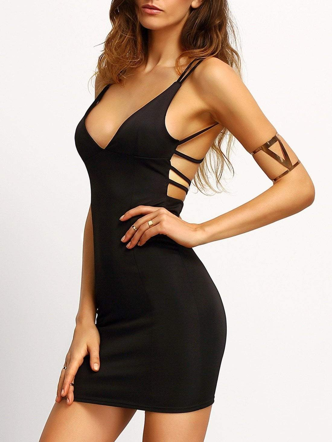 Black Crisscross Back Bodycon Dress - Dresses - Zooomberg - Zoomberg